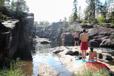 rapides de storforsen en été
