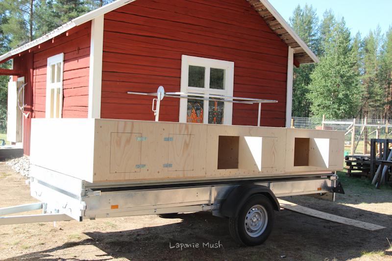 construction d 39 une remorque chiens laponie mush. Black Bedroom Furniture Sets. Home Design Ideas