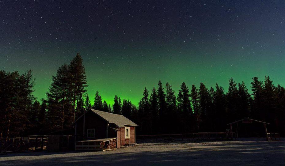 Séjour d'hiver en chien de traineau en Laponie Suédoise sous les aurores boréales