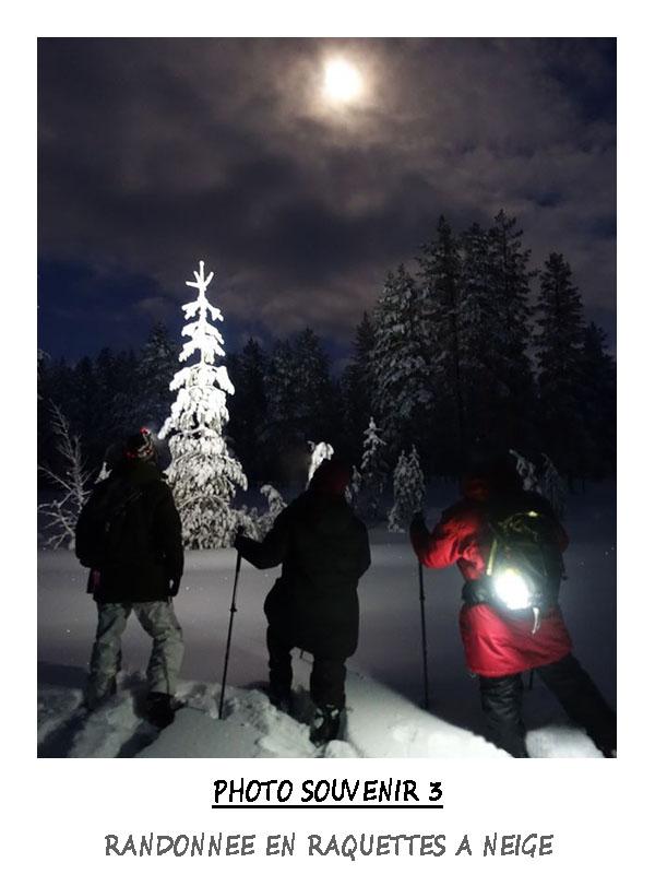 Randonnée en raquettes a neige en Laponie Suédoise