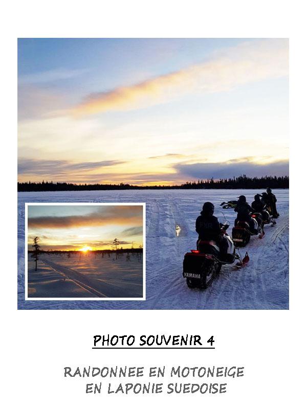 Randonnée en motoneige à travers la Laponie Suédoise