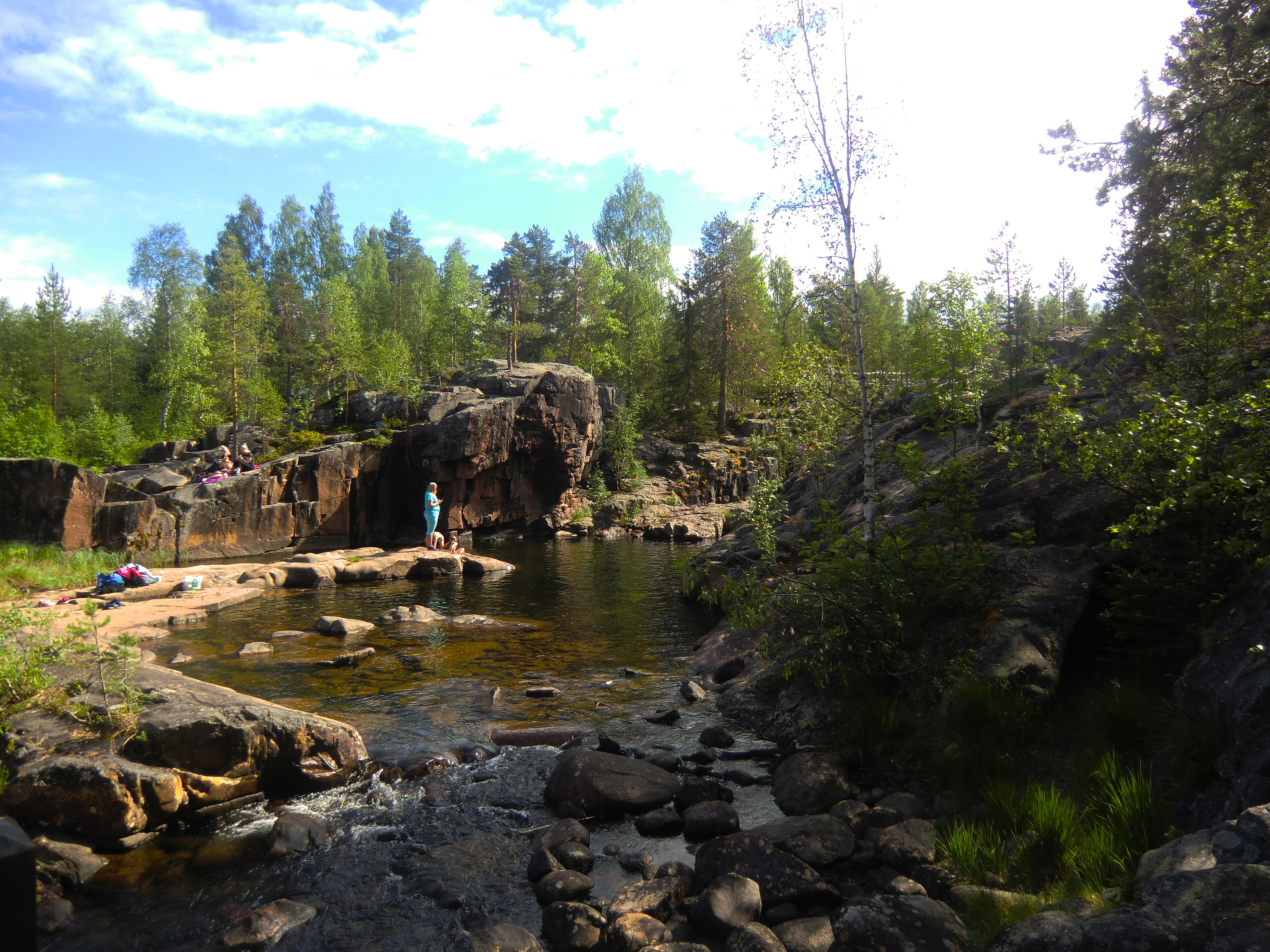 canyon et rapides de Storforsen en laponie