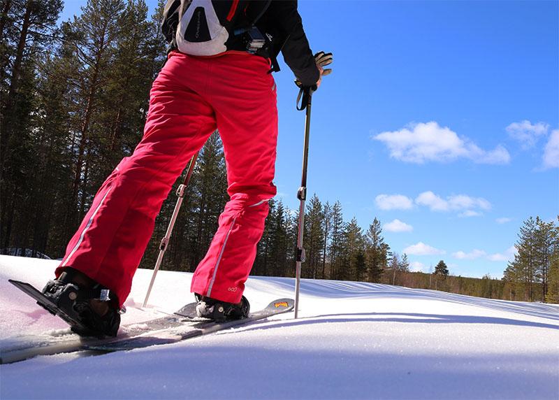Apprécier le calme de cette puissante nature et évoluer en ski raquette à la découverte des paysages uniques de Laponie
